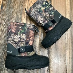Kamik Camo Winter Snow Boots boys 3